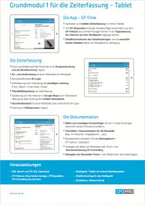 CP-Time Baustellendokumentation auf der Baustelle